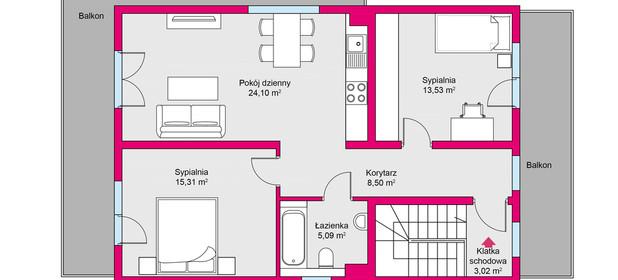 Mieszkanie na sprzedaż 72 m² Mrągowski Mrągowo Młynowa - zdjęcie 3