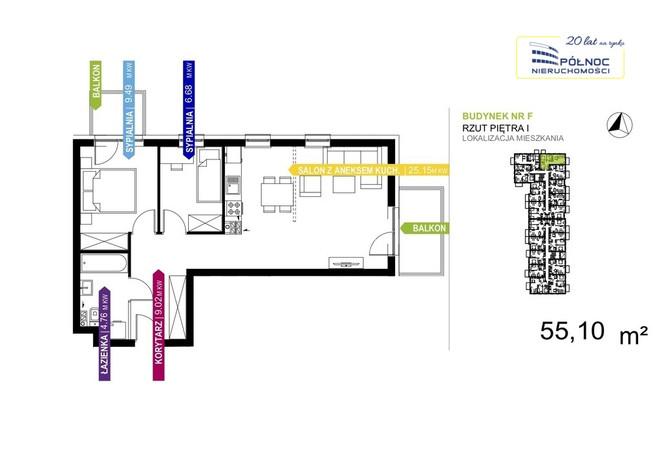 Morizon WP ogłoszenia | Mieszkanie na sprzedaż, Warszawa Białołęka, 55 m² | 9924