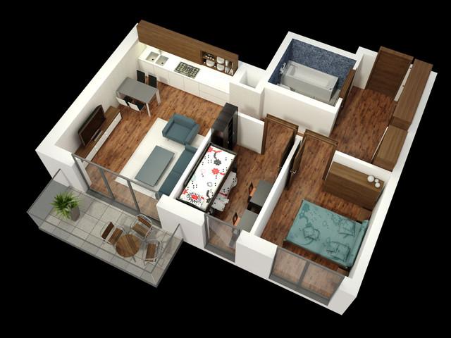Morizon WP ogłoszenia | Mieszkanie w inwestycji APARTAMENTY KALISKA 26, Łódź, 57 m² | 2336