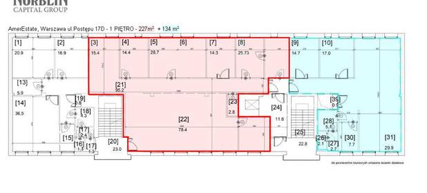 Lokal biurowy do wynajęcia 134 m² Warszawa Mokotów Postępu 17d - zdjęcie 2